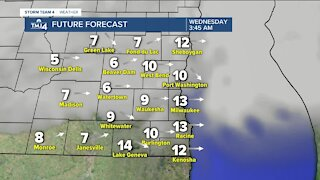 Breezy, but nice day ahead