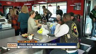 Local diner serviing free meals to veterans - Video