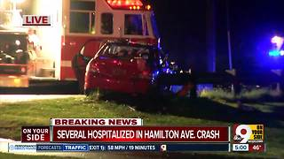 Hamilton Avenue closed by single-vehicle crash - Video
