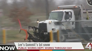 Lee's Summit prepares for snow - Video