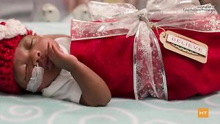 Hospital, March of Dimes dress newborns as Christmas presents | Hot Topics - Video