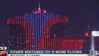Power restored to 11 more floors at Rio hotel-casino tower - Video