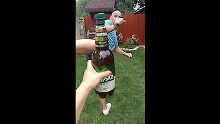 Slow Motion Bottle Cap Challenge Ends In Success