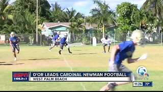 Chris D'Or leads Cardinal Newman football 4/25