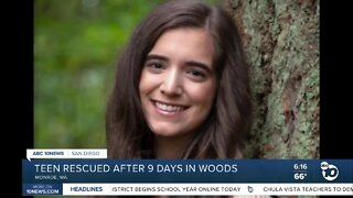 Teen rescued after 9 days in woods