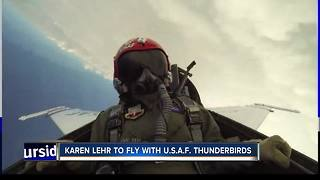 Karen Lehr to take flight with the Air Force Thunderbirds - Video
