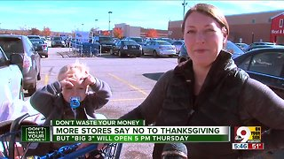 More stores say no to Thanksgiving