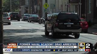 Former Navy grad arrested in home invasion, burglary - Video