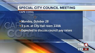 Special Cape Coral council meeting called to discuss council pay raises