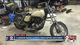 Claremore marine achieves dream before deployment - Video