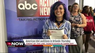'Front of the line' tickets given in Tampa Bay for American Idol - Video