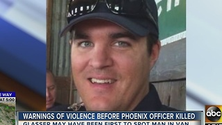 New: Warnings of violence before officer killed - Video