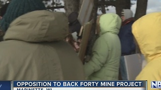 Dozens Protest Menominee county mine - Video