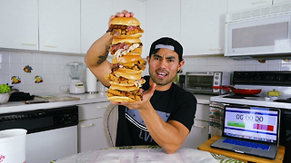 Ripped YouTuber Does Insane 15,000 Calorie Food Challenges - Video