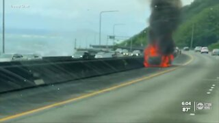 Father details terrifying moment rented Kia caught fire during Hawaii vacation with wife, son inside