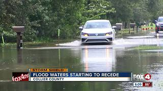 Most Collier roads open, but water still over many roads Monday - Video