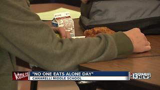 Canarelli Middle School celebrates No One Eats Alone Day - Video