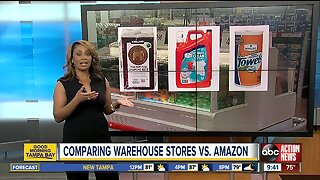 Comparing warehouse stores vs. Amazon