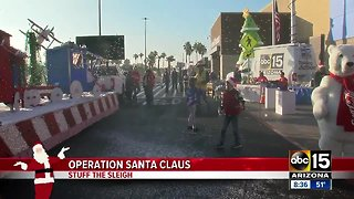Help stuff the sleigh for Operation Santa Claus!