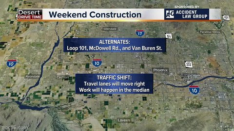 I-10 will be closed this weekend in the West Valley