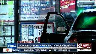 Man recovering after stabbed in South Tulsa - Video