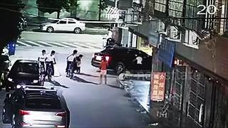 Girl lucky to survive after being run over by car - Video