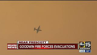 Goodwin Fire continue to grow as containment is difficult to obtain - Video