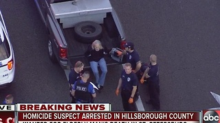 Homicide suspect arrest in Hillsborough County - Video