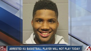 KU basketball player charged with battery - Video