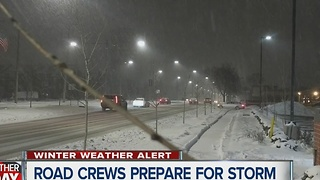 Road crews across metro Detroit prepare for second round of snow - Video