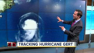 Gert becomes second hurricane of 2017 season in Atlantic - Video