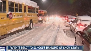 Students stuck at West Seneca school due to storm - Video