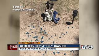 Woman says vandals repeatedly trashed her mom's grave - Video