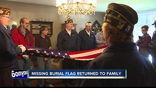 Found burial flag reunited with family of fallen veteran