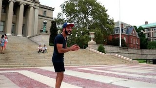 Freestyle Frisbee Players Show Off Their Skills - Video