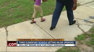 Three Hillsborough Schools set to get new sidewalks to reduce crashes - Video
