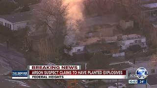 Officials: Mobile home in Federal Heights set ablaze by man who admitted to putting bombs inside - Video