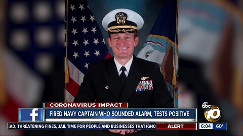 Reassigned Navy captain tests positive for COVID-19