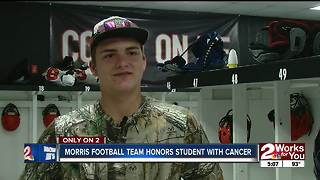 Oklahoma teen battling brain cancer becomes honorary football team member