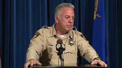 Sheriff Joe Lombardo gives a press conference on the Las Vegas 1 October shooting investigative report