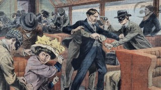 The first train robbery happened in Seymour, Indiana. - Video
