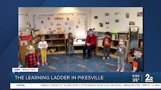Preschoolers at the Oheb Shalom's Learning Ladder say Good Morning Maryland