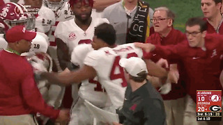 Alabama LB Mekhi Brown Swings on His OWN Coach After Punching Georgia Player - Video