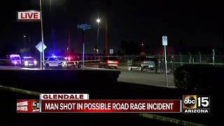 Glendale police investigating possible road rage shooting