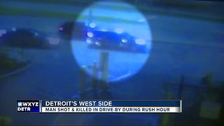 Man shot, killed while driving in rush hour in Detroit - Video