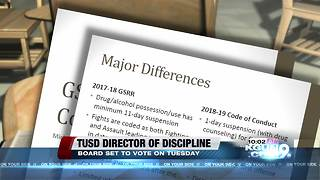 TUSD board set to vote on new discipline chief