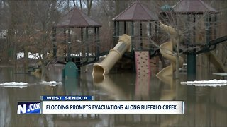 Ice jam flooding prompts evacuations along Buffalo Creek in West Seneca