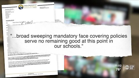 Florida education commissioner asks for schools to cancel mask mandates for upcoming school year