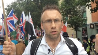 Polish Man at Britain First Rally in Birmingham Calls Islam 'Evil' - Video