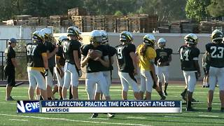 High heat affecting practice time for local student-athletes - Video